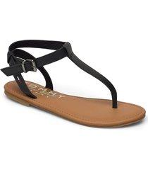 essential toe post flat sandal shoes summer shoes flat sandals svart tommy hilfiger