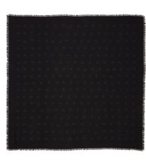 women's saint laurent large mesh stars wool shawl