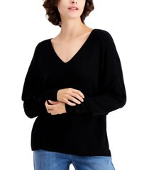 eileen fisher v-neck drop-shoulder sweater