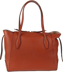 tods top zip shopping tote