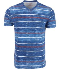 sun + stone men's textured stripe t-shirt, created for macy's