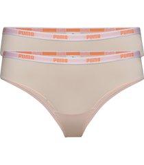 puma brazilian microfiber 2p hang stringtrosa underkläder rosa puma