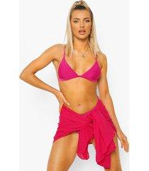 chiffon midi strand sarong, bright pink