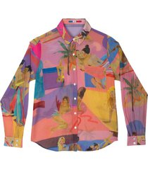 funky love cotton and silk shirt