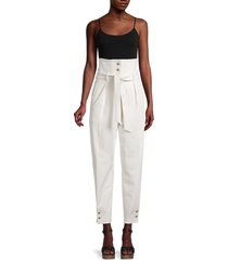 iro women's caelia paperbag pants - ecru - size 38 (6)