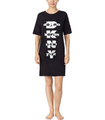 dkny logo-print sleep shirt nightgown