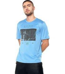 camiseta azules reebok re ss tee