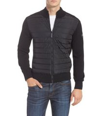 men's canada goose hybridge slim fit down front knit jacket, size small - black