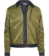 combo bomber jacket