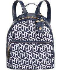 tommy hilfiger julia printed nylon backpack