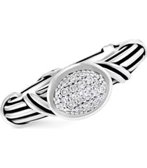 peter thomas roth white topaz pave statement ring (3/8 ct. t.w.)