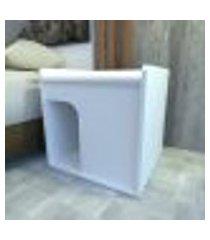mesa de cabeceira caminha para pet 45x40x45 cm mdf branco tx modelo en8901mc