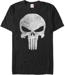 marvel men's punisher distressed skull logo costume short sleeve t-shirt