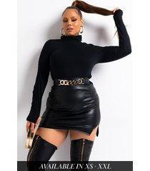 akira everybody but me vegan leather mini skirt