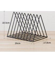 triángulo simple revistero salón estudio de almacenamiento de escritorio negro accesorios