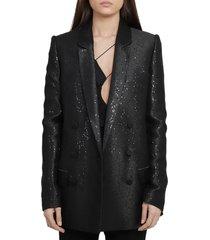 haider ackermann black sequined jacket
