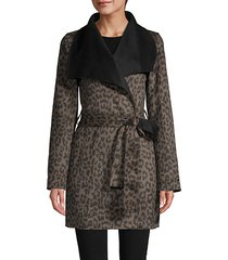 ella leopard wrap jacket