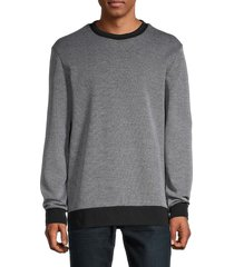 boss hugo boss men's crewneck cotton-blend sweatshirt - grey - size xxl
