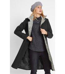 korte coat met asymmetrische ritssluiting