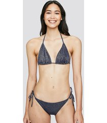 bikinitrosor med knytning i sidan - silver