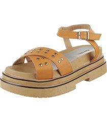 sandalia de cuero suela valentia calzados dina