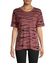 abstract-print cotton-blend tee