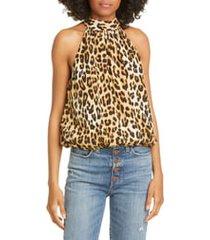 women's alice + olivia maris silk halter neck top
