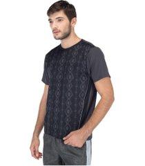 camiseta oxer roots - masculina - cinza escuro/preto