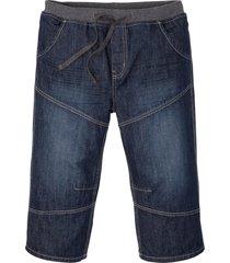 bermuda lunghi in jeans loose fit (blu) - rainbow