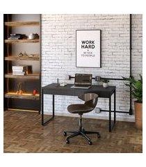 mesa de escritório kuadra 2 gv preta 135 cm