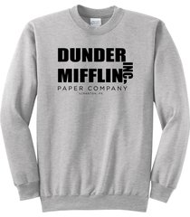 dunder mifflin  a paper company funny tv show shirt crewneck sweatshirt