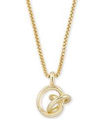 "kendra scott love knot pendant necklace, 28"" + 2"" extender"