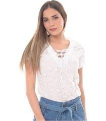 blusa para mujer en algodón blanco color-blanco-talla-l