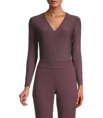 commando women's long-sleeve thong bodysuit - mink - size s