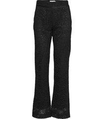 trousers pantalon met rechte pijpen zwart rosemunde