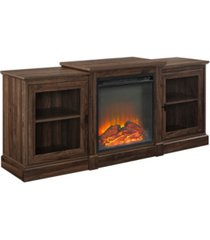 """walker edison 60"""" classic tiered top fireplace tv console"""