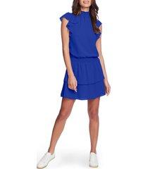 women's 1.state flutter sleeve dress, size medium - blue