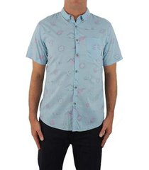 camisa billabong sundays mini seafoam masculino