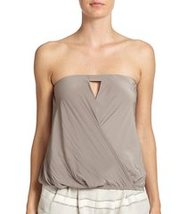 tatiana strapless cut-out top