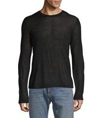 stripe wool crewneck shirt