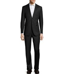 slim-fit wool & silk pinstripe suit