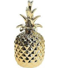 ananas ceramiczny figurka złota
