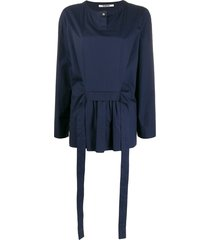 chalayan belted t-shirt - blue