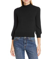 women's co essentials high collar wool sweater, size x-large - blue