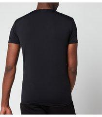 emporio armani men's mesh microfiber crew neck t-shirt - black - xl