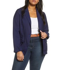 plus size women's treasure & bond one-button blazer