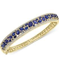 effy sapphire (7-1/6 ct. t.w.) & diamond (1-1/6 ct. t.w.) bangle bracelet in 14k gold