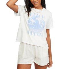 billabong juniors' eco rockers cotton t-shirt