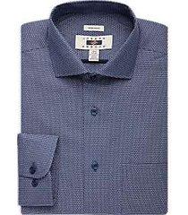joseph abboud indigo blue dress shirt textured blue