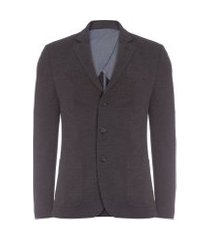 blazer masculino de malha - cinza